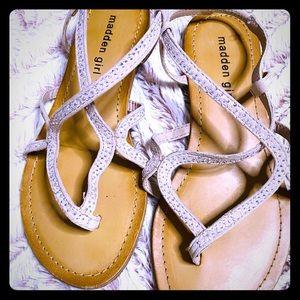 Pink Rhinestone Steve Madden Flats Sandals